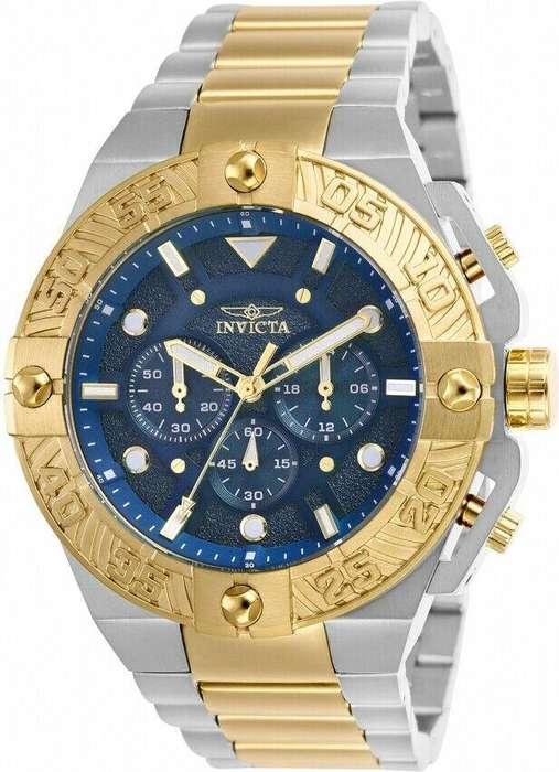 Reloj Hombre Invicta Pro Diver Crono Plateado Azul 25845