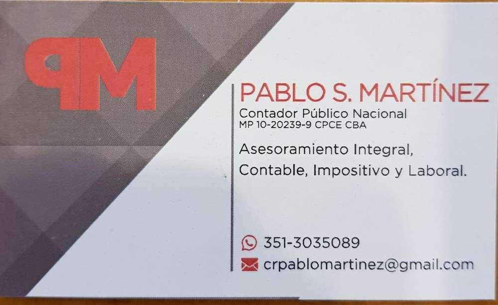 Contador Publico Matriculado Ofrece