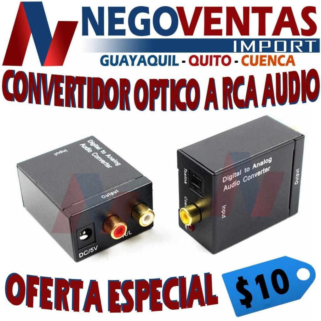 CONVERTIDOR DE AUDIO DE OPTICO A RCA