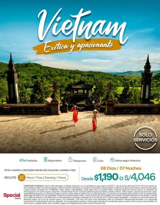 Viaje a Vietnam salida desde Lima Peru