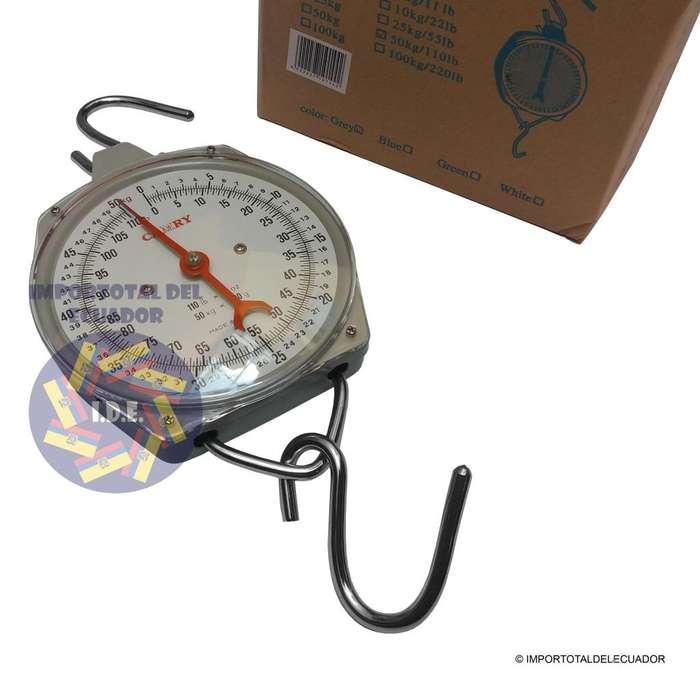 Balanza colgante mecánica ''nueva'' o tipo reloj marca Camry alta calidad / 50 kg / 110 libras
