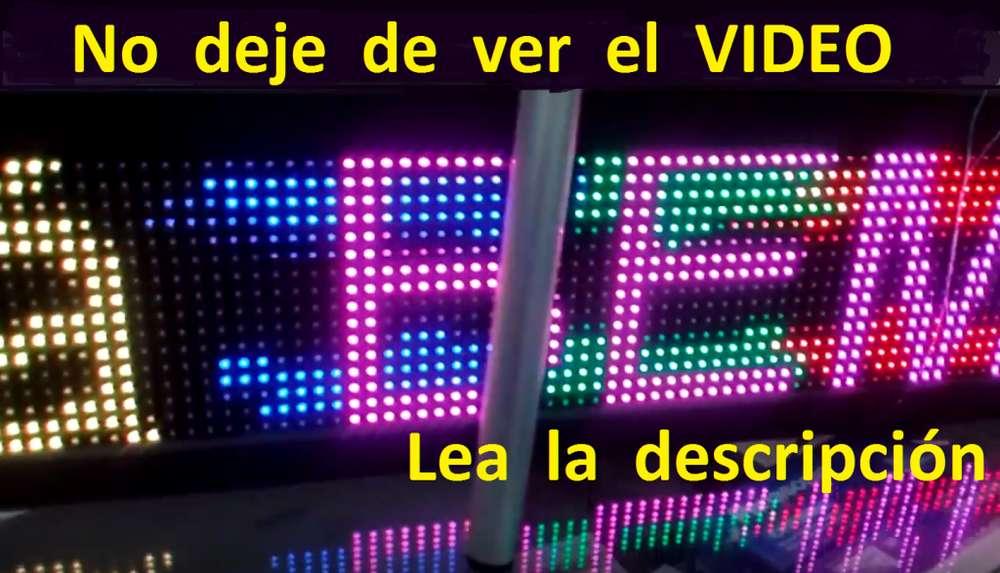 Cartel Programable información Pasante Led RGB 130x22 cm