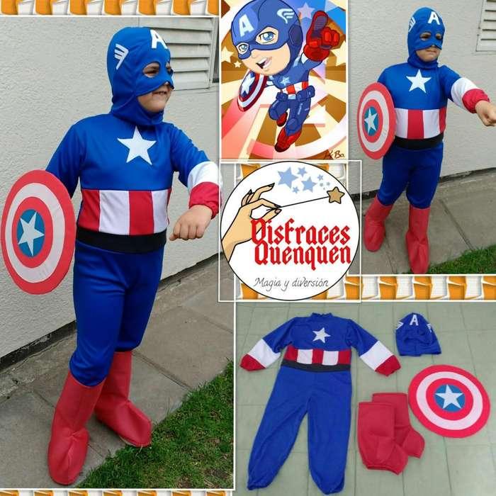 Disfraz de Capitán América para niño.