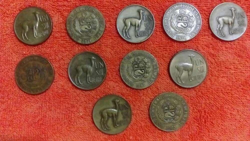 Vendo 40 Monedas Sol Oro Llamita