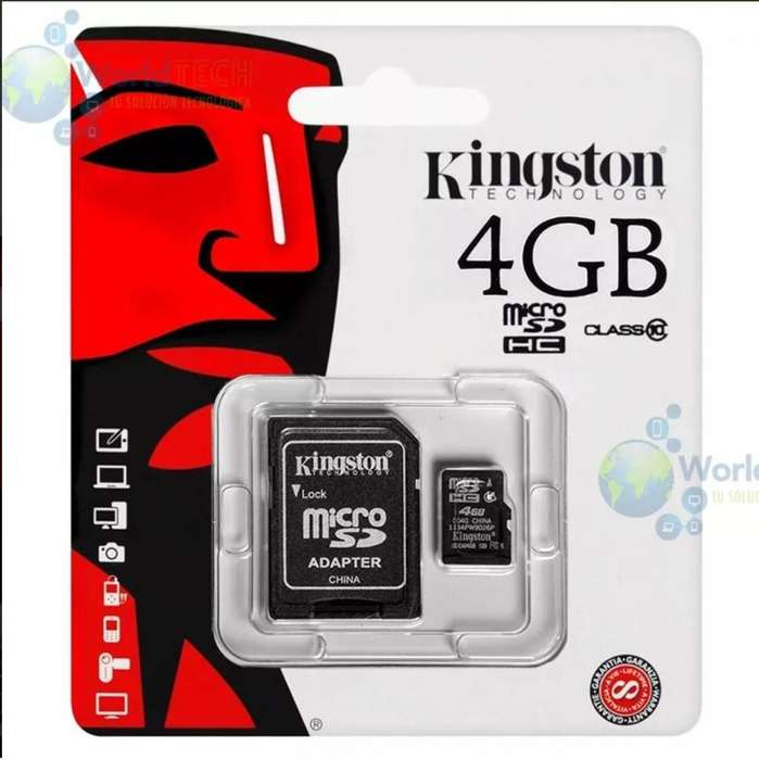 Memoria Microsd Kingston 4gb Clase 10 Uhsi 30mb/seg Original