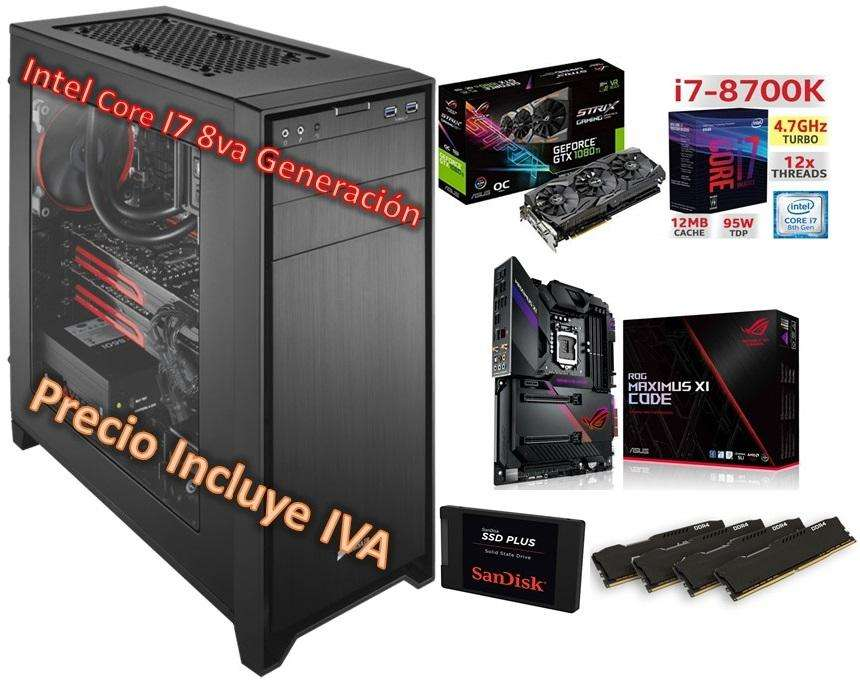 Cpu Gamer Intel I7 9700 960GB SSD 3tb 64gb Gtx1080ti 11GB Computador PRECIO INCLUYE IVA ENTREGA A DOMICILIO