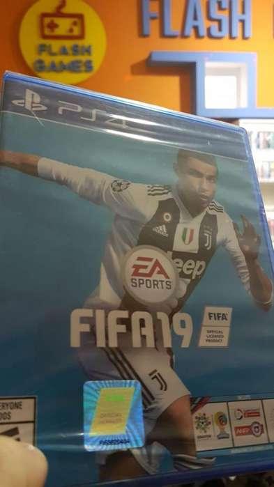 nuevo sellado FIFA 19 juego play 4. local céntrico. recibo tarjetas. garantía. juegos físico ps4