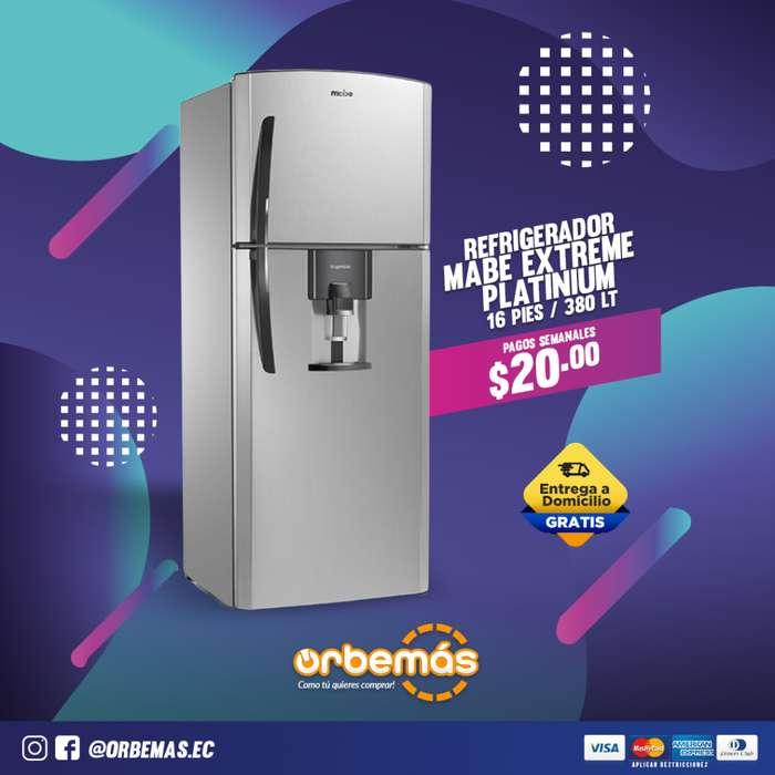 Refrigeradora Extreme Inox 380 litros Mabe / ORBEMÁS