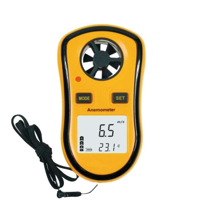 Anemometro digital velocidad viento temperatura termometro
