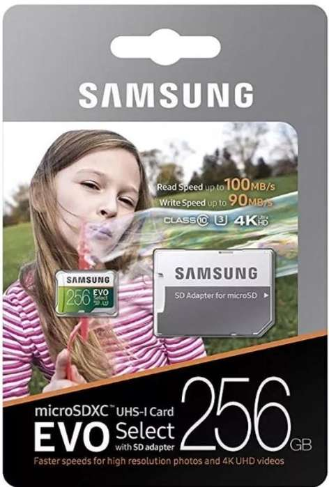 Samsung 256GB 100MB/s (U3) MicroSDXC EVO Memory Card
