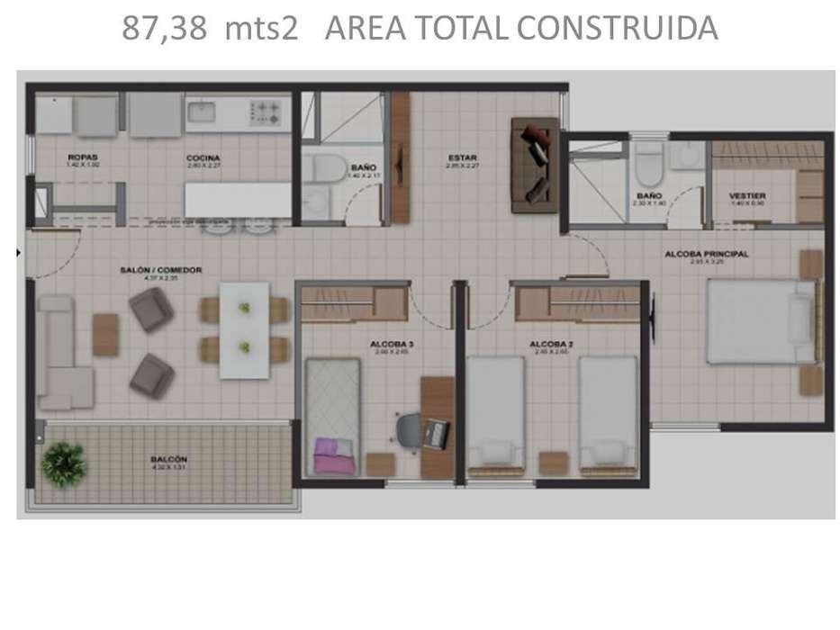 <strong>apartamento</strong> en venta Nuevo, barrio Santa Ana en Medellin 250.000.000