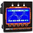 Medidor digital de variables eléctricas LCD 99.2x99.2mm