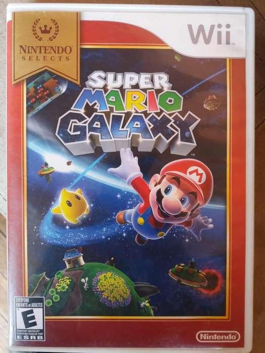 Super Mario Galaxy Wii Original y Wii Sensor Bar