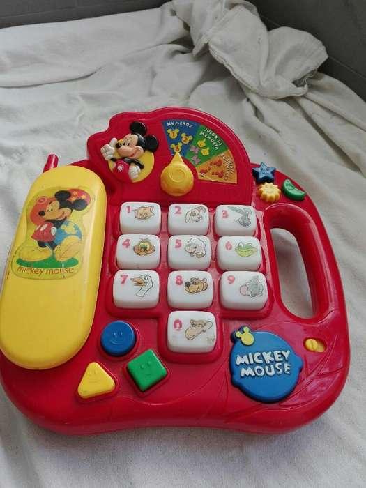 Telefono Mickey con Sonido Y Luz
