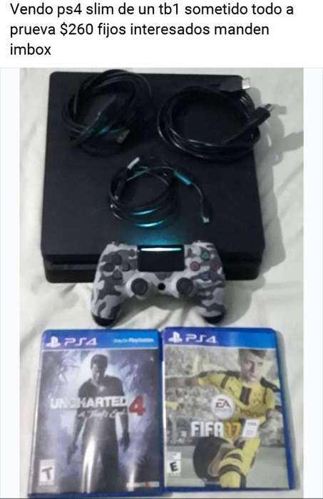 Vendo Ps4 Slim D Un Tb1 Barato