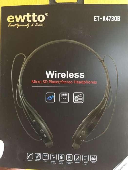 Audifonos inalambricos Bluetooth Ewtto
