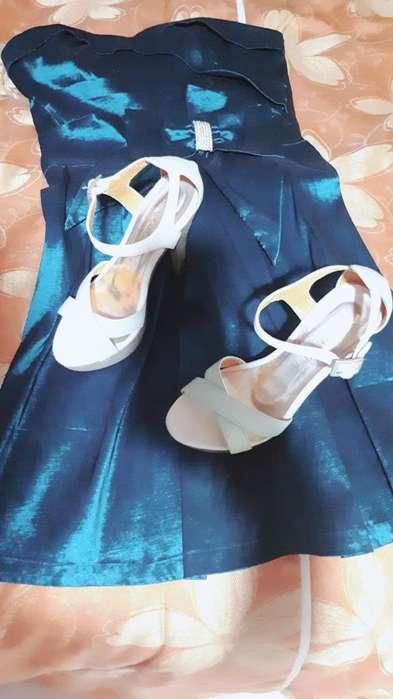 Vestido Y Par de Zapatos