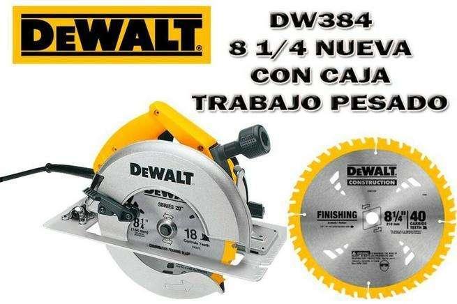 Sierra Circular Dewalt Dwe384 de 8 1/4 Nuevo con garantia