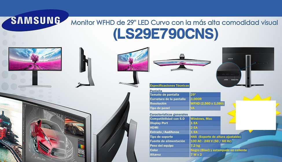 Monitor Curvo Wfhd De 29 Samsung Alta Comodidad Visual envios gratis