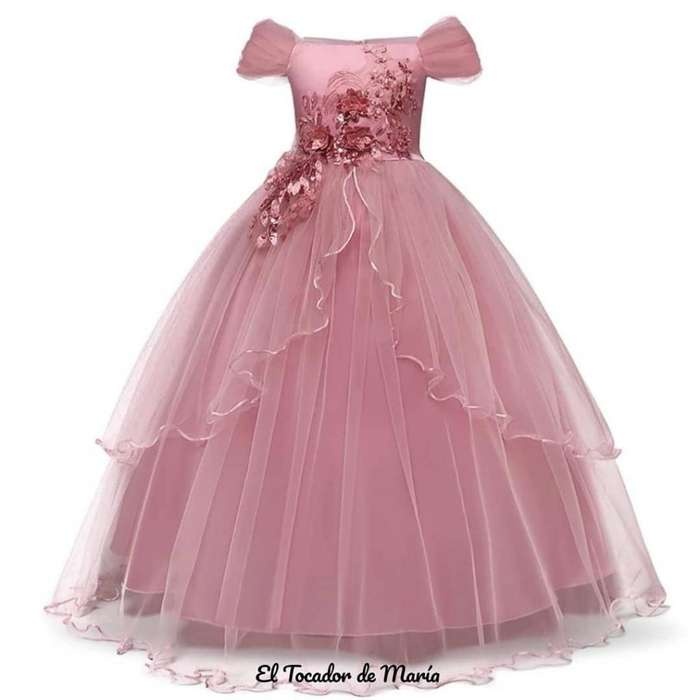 Vestido Rosado Largo