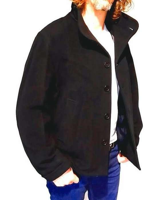 Blazer Abrigo Mancini Hombre Negro T: 3 Con Funda-impecable