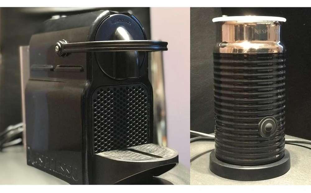 Cafetera Nespresso Inissia Black Espumador Aeroccino 3