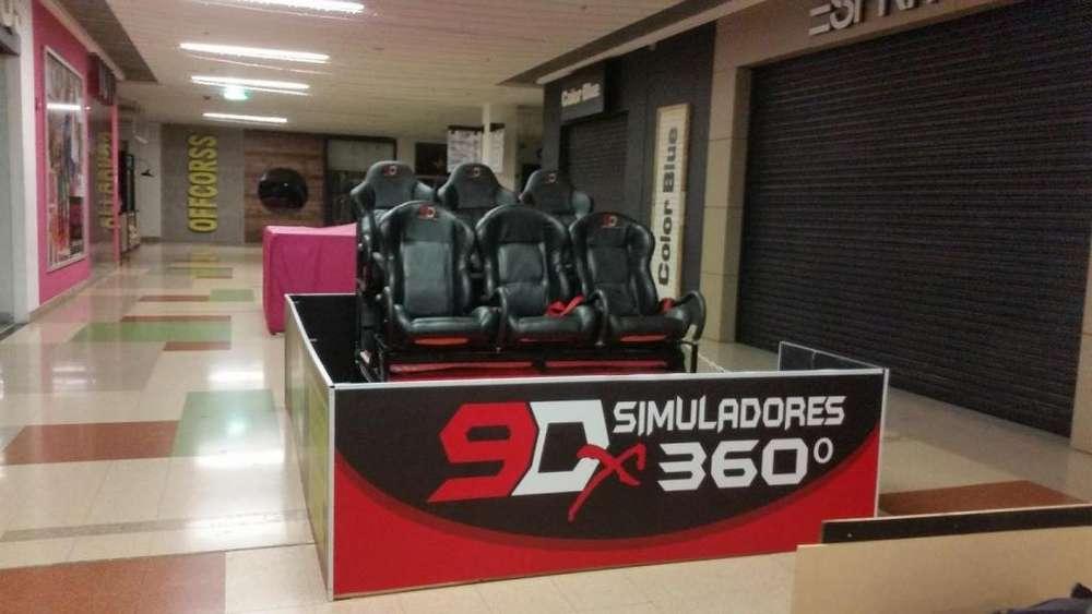 simulador realidad virtual de 4 a 6 sillas y modulos de simulador de conducción