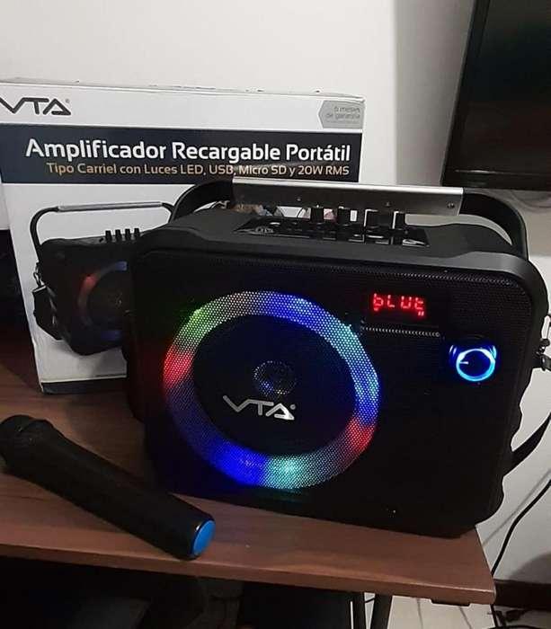 (Ganga) Amplificador Nuevo Recargable Portatil Tipo Carriel 20W RMS VTA ( Nuevo )