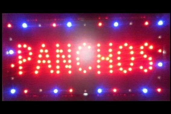 Cartel LED PANCHOS con interruptor
