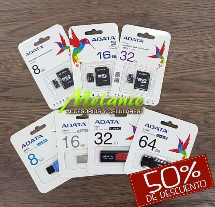 TARJETAS DE MEMORIA ADATA 8GB 16GB 32GB