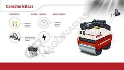 Rodillo Compactador Chupetero 757 Kg Dynapac DTR75 nuevo