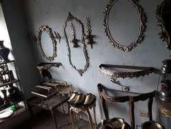 Consolas Y Espejos D Bronce Puro Antiguo