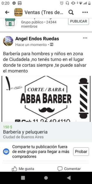 Barberia 150 Corte Y Barbw