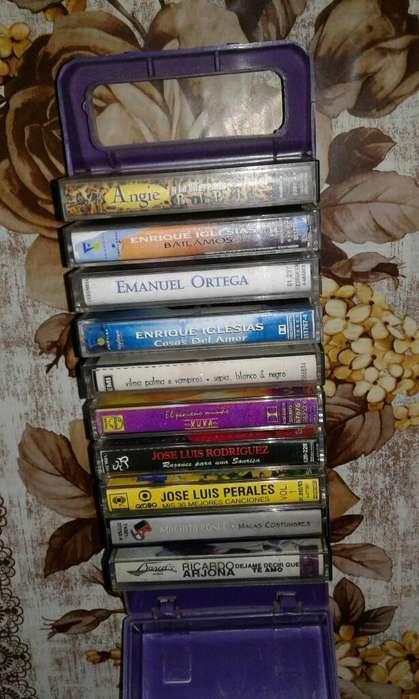 10 Casettes con Caja Porta Casettes