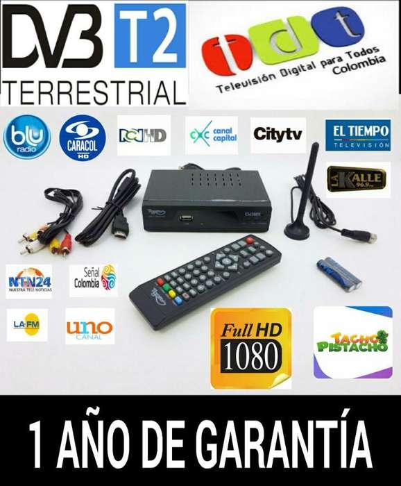 Decodificador Tdt T2 Cable Hdmi Y Antena