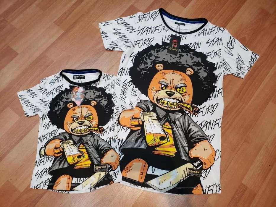 Lindas Camiseta Papa Hijo 3146880150