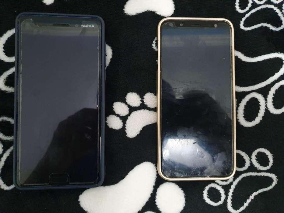 Vendo dos Telefonos celulares Nokia 6 y J6 Samsung en excelente estado
