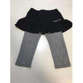 c1b258bd4 Pollera Volados Negra con calza Calvin Klein T3 Nena Perfecta