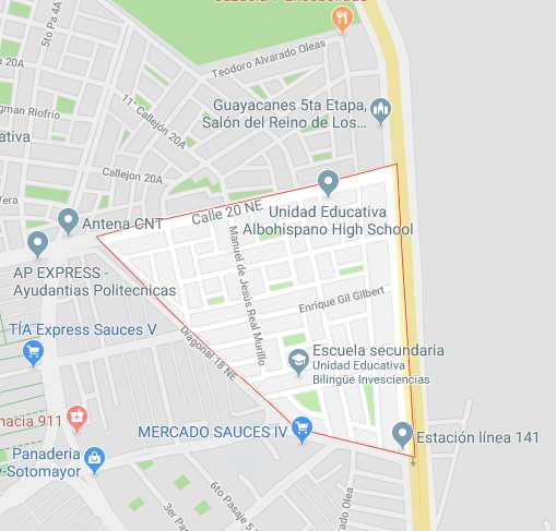 Guayacanes, 124m2, Bien ubicado, Terreno en venta