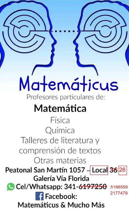 MATEMÁTICAFÍSICAQUÍMICA OTRAS MATERIAS: PROFESORES PARTICULARES