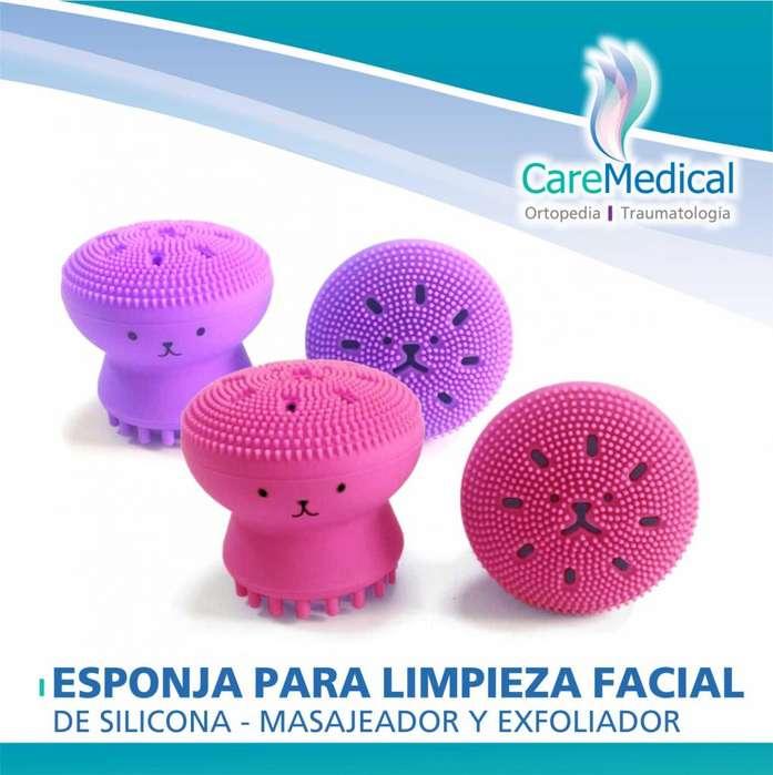 Esponja Para Limpieza Facial De Silicona - Masajeador y Exfoliador