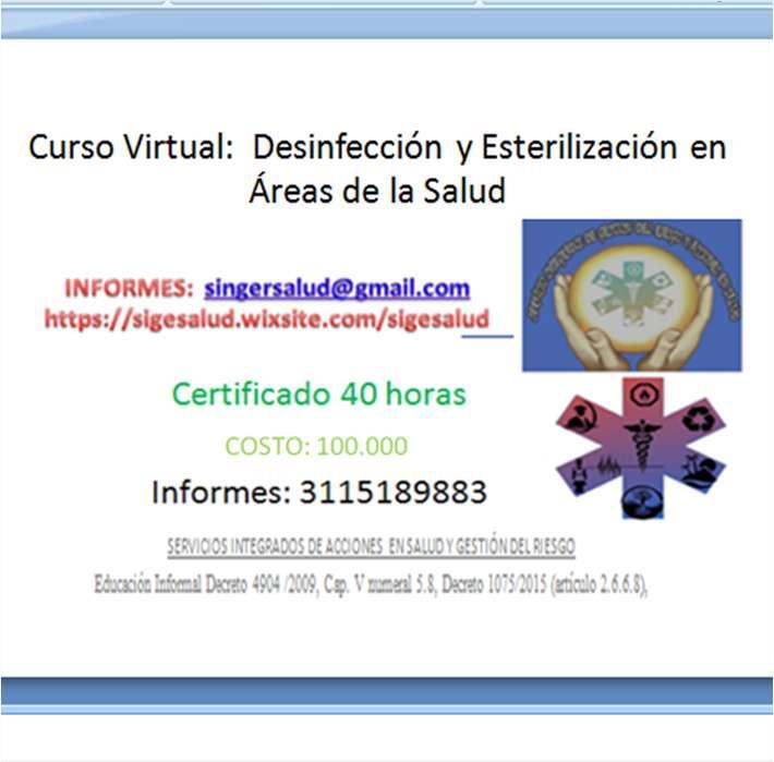 100.000 curso virtual: Desinfección y Esterilización en Áreas de la Salud