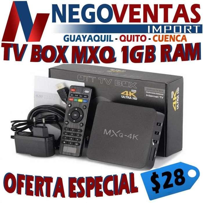 TV BOX MXQ 4K 1GB RAM 8 GB INTERNO CONVIERTE A TU TV EN SMART TV DE OFERTA