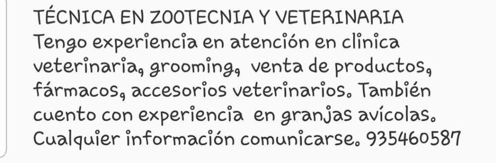 Técnica en Zootecnia Y Veterinaria