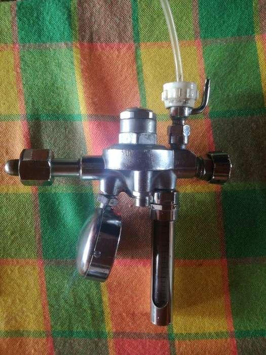 Flujometro con Manómetro para Oxígeno