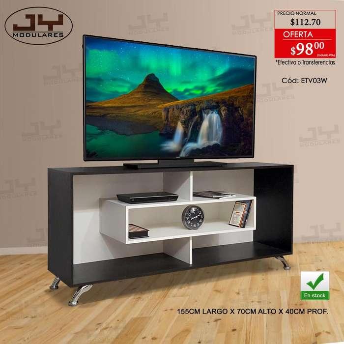 Modulares mesas bases para Tv, 155cm y 130cm, listos de entregar, centro entretenimiento JY MODULARES