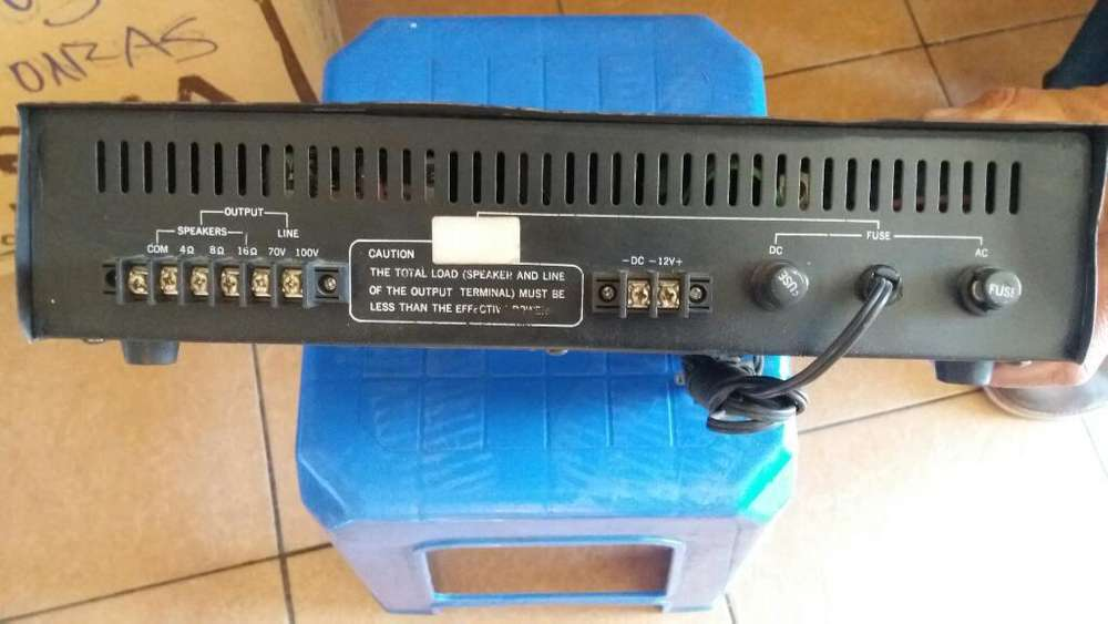 Vendo Amplificador para Perifoneo