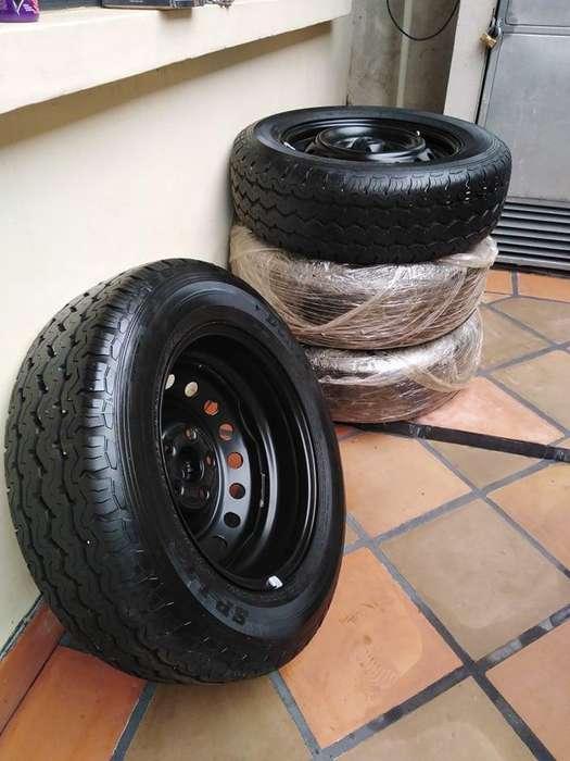 Aros Hilux Original Rin 16 Y <strong>llantas</strong> Dunlop Sp Lt5 215/65/16 3 días de uso