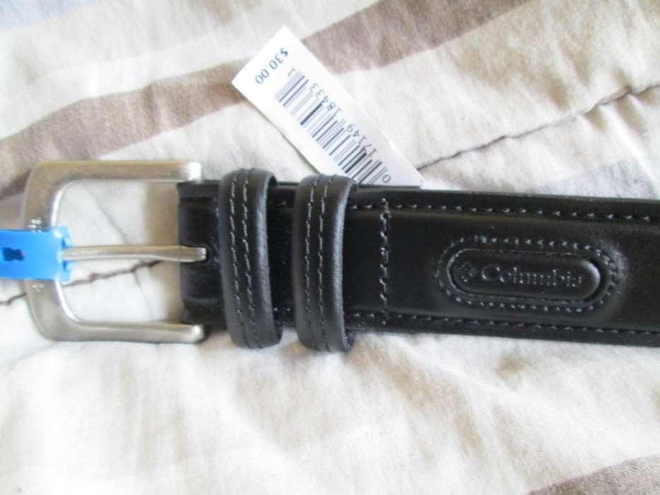 Columbia Cinturon de cuero genuino, Nuevo Talle 34/44 Traido de USA