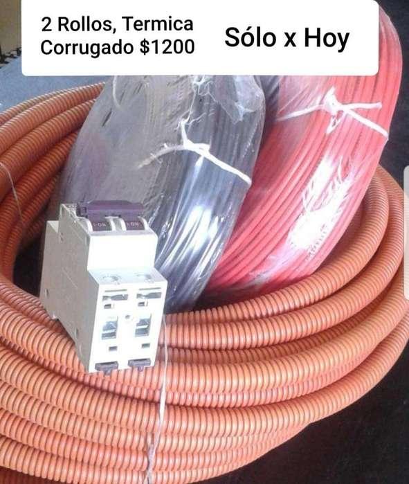 2 Rollos de Cable 1 Termica 1 Corrugado